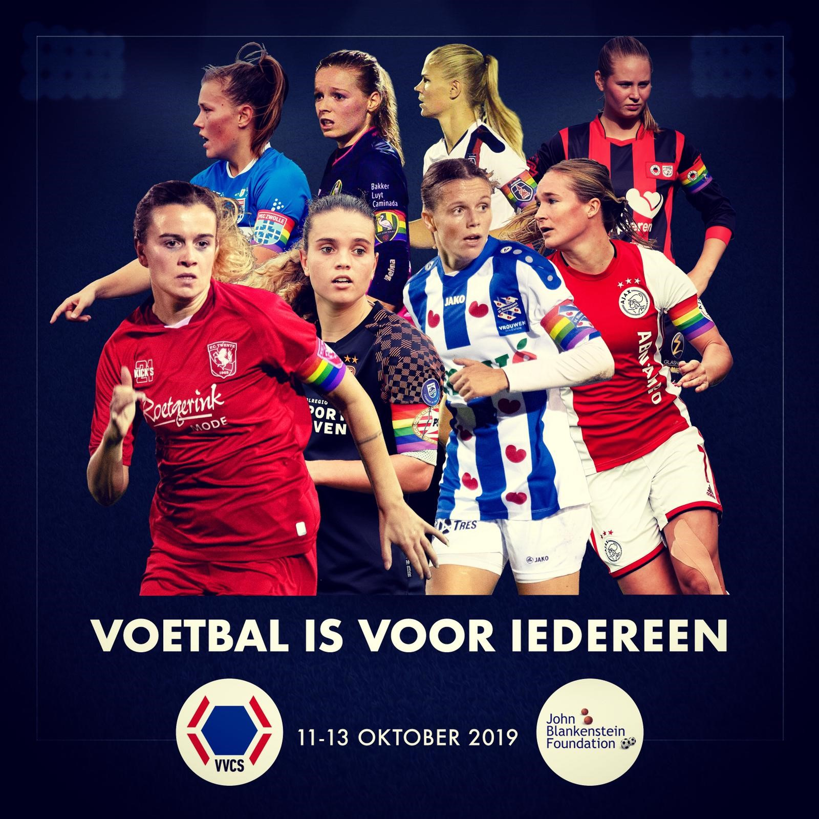 Aftrap All together challenge in Eredivisie Vrouwen